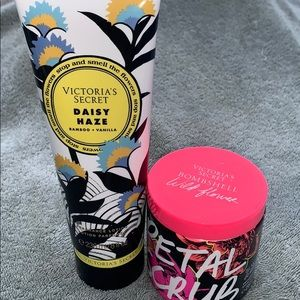 NEW VICTORIAS SECRET SCRUB & LOTION/ never opened